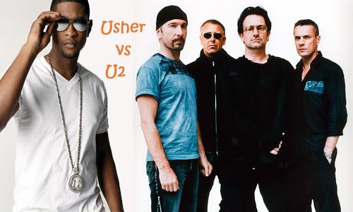 U2 vs. Usher
